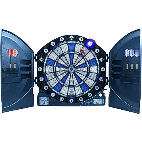 Best Sporting elektronische Dartscheibe CAMBRIDGE mit LED beleuchteten Ziffern, Dartautomat mit 6 Dartpfeilen, Dartboard mit Netzteil - 3