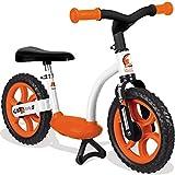 Unbekannt Laufrad mit stabilem Metallrahmen, höhenverstellbarer Sitz, 76x39 cm, orange - Metall Kinderbike Lernlaufrad Flüsterräder Lauflernrad mit Ständer