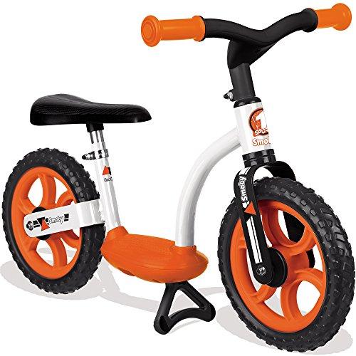 Laufrad mit stabilem Metallrahmen, höhenverstellbarer Sitz, 76x39 cm, orange - Metall Kinderbike Lernlaufrad Flüsterräder Lauflernrad mit Ständer