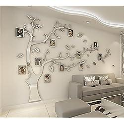 OAMORE DIY 3D sticker mural Arbre généalogique avec cadres photo Cristal Acrylique Décorations murales Autocollants Décoratifs Accueil Décorations Arts (L, Style5)