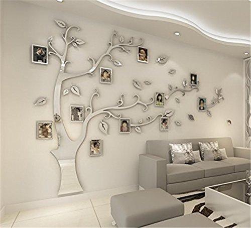 OAMORE 3D Adesivi Murali Wall Sticker Forma Albero Adesivi da Parete ...