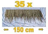 Panda Shop-of-Wonder 35-Stück-Palmendach-Palmenwedel-Palmenblätter-Reetdach-Schindel-150-cm für Dekoration