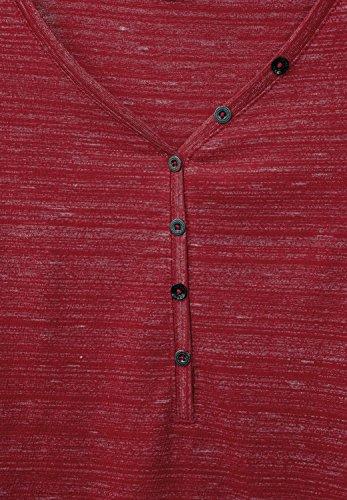 Cecil Damen Langarmshirt cranberry red melange (rot meliert)