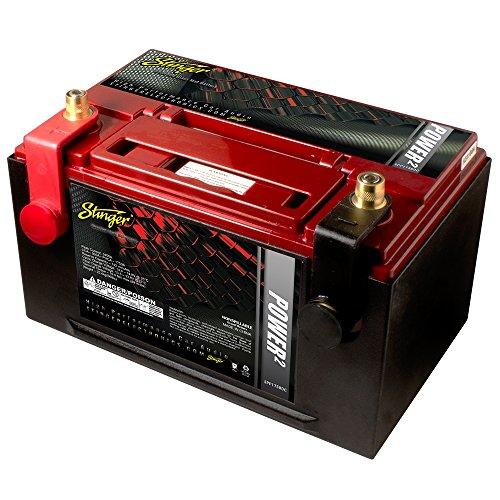 Stinger SPP1750DC   12V Autobatterie   Kapazität: 75Ah   5sec. Startstrom: 1750A   CCA: 950A   Typ: AGM   3250W   Inkl. 7,50 EUR Batteriepfand   Ersatz- oder Zweitbatterie Thin-serie Subwoofer