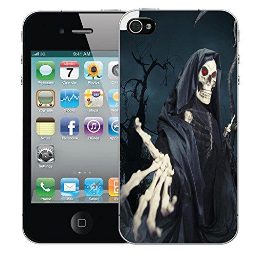 Nouveau iPhone 4s clip on Dur Coque couverture case cover Pare-chocs - snake love Motif avec Stylet skull reeper