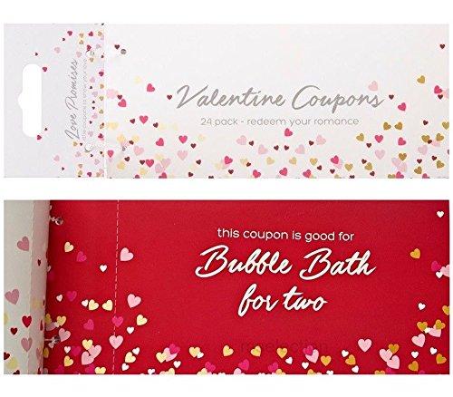 24Valentine Love Coupons Paar Ziele Beziehung Romantisches Geschenk Fun Spielzeug Play Freundin Boyfriend Valentinstag Hochzeit Jahrestag personalisierbar (Geschenk-karten Einlösen)