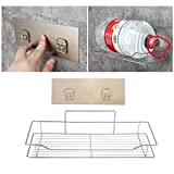 Stainless Steel Bathroom Kitchen Shower Shelf Storage Rack Non Rust Suction Basket Caddy Tidy - L