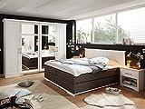 SAMIRA Komplett Schlafzimmer Kiefer weiß/stone