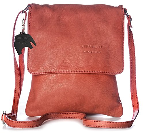 Big Handbag Shop - Borsa a tracolla donna Rosso (Deep Coral)