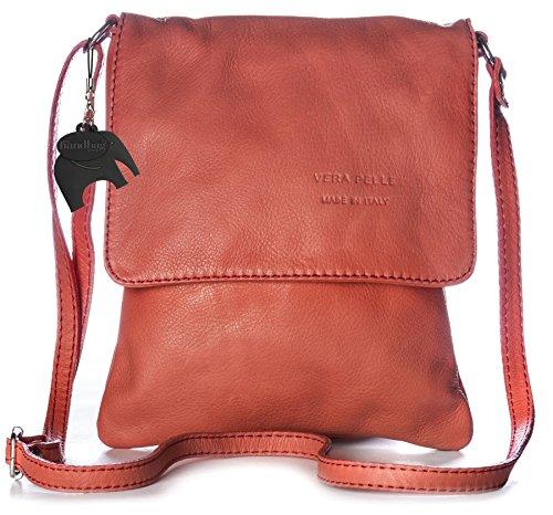 Handbag Big donna Deep a Borsa Rosso tracolla Shop Coral vwqRwz