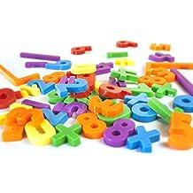 Miniland - Números magnéticos, 54 piezas, multicolor (45314)
