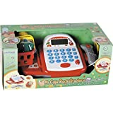 Caja Registradora Con Calculadora, Escáner, Luces, Sonido y Cesta de la Compra 10x23x15cm