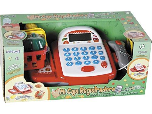 IMITOYS Caja Registradora Con Calculadora, Esc�ner, Luces, Sonido y