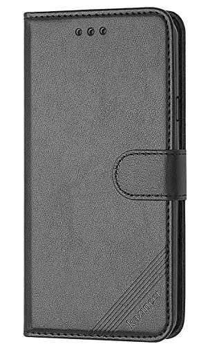 kazineer Galaxy S4 Hülle, Leder Tasche Handyhülle für Samsung Galaxy S4 Schutzhülle Brieftasche Etui Flip Case - Schwarz