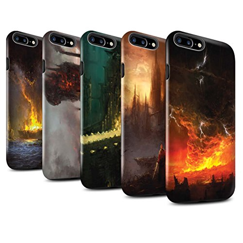 Offiziell Chris Cold Hülle / Glanz Harten Stoßfest Case für Apple iPhone 7 Plus / Pack 8pcs Muster / Gefallene Erde Kollektion Pack 8pcs