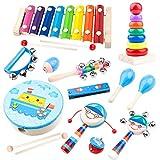 Comius Instrumentos Musicales Infantiles, Instrumentos Musicales para niños, Musicales Instrumentos Musicales Percusión Conjunto de Banda
