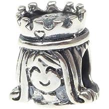 Hunter 925 cuentas de plata de ley pulsera de cuentas de diseño de princesas Disney colgantes ajuste cadena de seguridad europeo de piel de serpiente