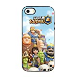 SLIDE COVER in TPU GEL NERO MORBIDO Custodia protettiva COLLECTION, Clash Royale iPhone 5 5S