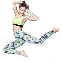 Pantalones de yoga de bolsillo de cintura alta. Ej Pantalones de yoga Impreso Fitness Pantalones Pantalones Running Cool Pantalones de degradado seco Gimnasia aplicable a las mujeres ( tamaño : L )