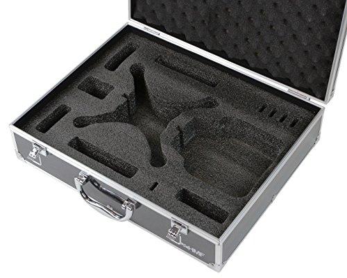 HMF 18301-02 Transportkoffer, Koffer passend für X5C , X5SC , X5 Syma Drohne, bis zu 5 Akkus, 42,5 x 33,5 x 11,5 cm, schwarz - 3