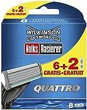 Wilkinson Sword Quattro 6lames de rasoir + 2lames offertes