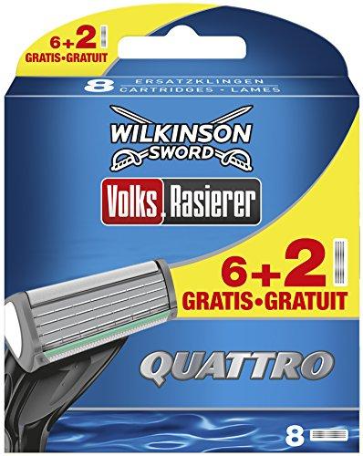 Wilkinson Sword Quattro 6cuchillas afeitar + 2cuchillas