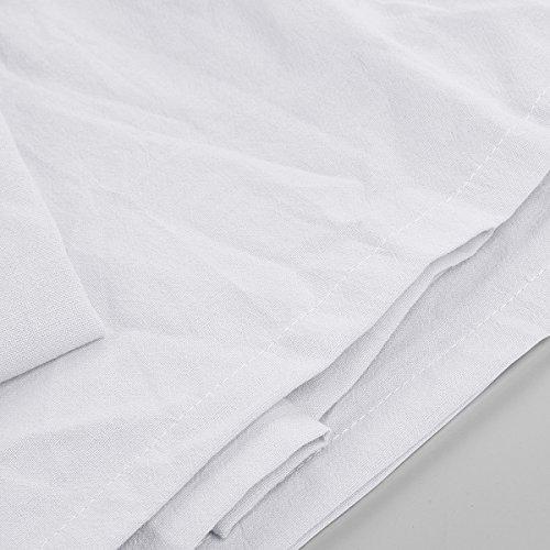 Tyhbelle Betthimmel für Kinder Babys Baumwolle Hängende Moskiton Höhe 230 cm Saumlänge 270cm (Weiß) - 4