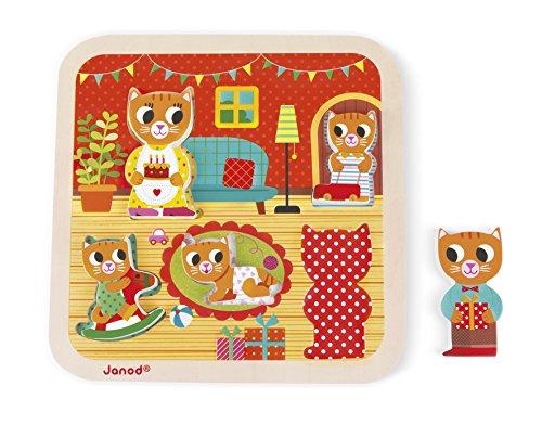 Janod - J07085 - Chunky Puzzle 7 pièces - Salon (bois)
