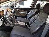 Sitzbezüge k-maniac | Universal schwarz-grau | Autositzbezüge Set Vordersitze | Autozubehör Innenraum | Auto Zubehör für Frauen und Männer | V634665 | Kfz Tuning | Sitzbezug | Sitzschoner