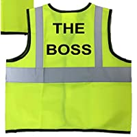 Childrens High Visibility Vests Waistcoat Jacket Hi Vis Safety Boss 3-9 Years