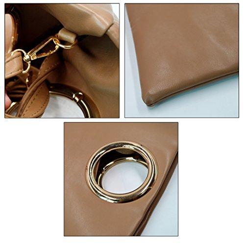 Millya, Poschette giorno donna, Khaki (kaki) - bb-01278-01C Khaki
