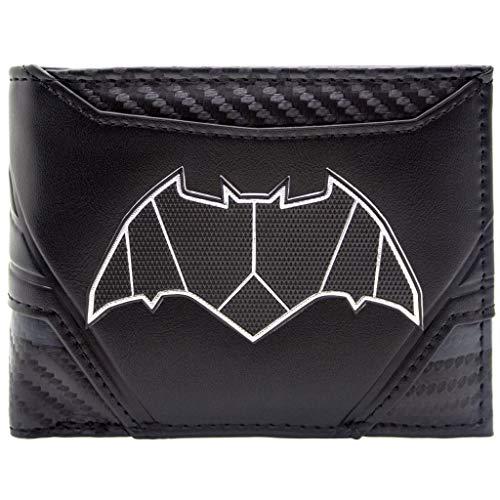 Face Batman Two Kind Kostüm - DC Batman Carbon Anzug Stil Schwarz Portemonnaie Geldbörse