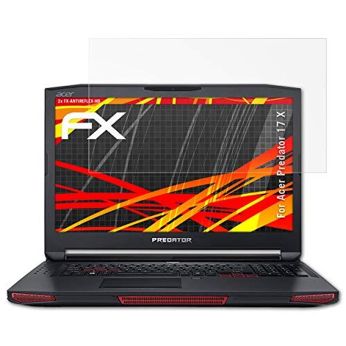 atFolix Schutzfolie kompatibel mit Acer Predator 17 X Bildschirmschutzfolie, HD-Entspiegelung FX Folie (2X)