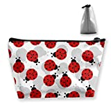 Makeup Bag Toiletry Pouch Cosmetic Bag with Ladybugs Cartoon Cute Patterns