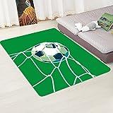 Wddwymll Fußball-Muster Teppiche für Wohnzimmer Dekor Teppich Kinder Schlafzimmer Bedside Spiel Teppich Kinderzimmer Kriechmatte Bereich Teppiche - 2,60 x 180 cm