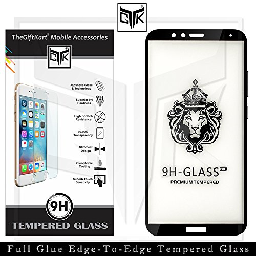 TheGiftKart Tempered Glass: Korean Full Glue Edge-To-Edge Tempered Glass Screen Protector (Black) | Full Screen Coverage | Nippa Glue for Excellent Adhesion