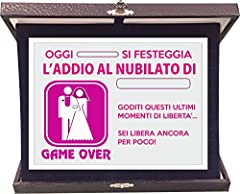 Idea Regalo - Targa Premio Addio al Nubilato - Game Over - idea regalo - in alluminio e velluto