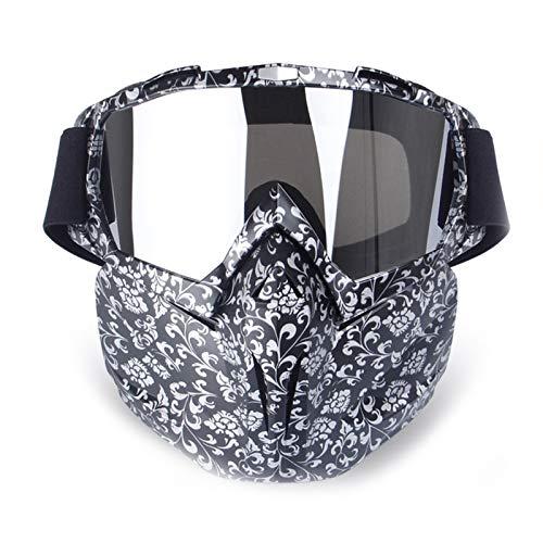 Epinki Unisex PC Fahrradbrille Maske Radsportbrille Outdoor Schutz Brille Radbrille Schutzbrillen für Motorrad Fahrrad Helmkompatible, Weiß Schwarz