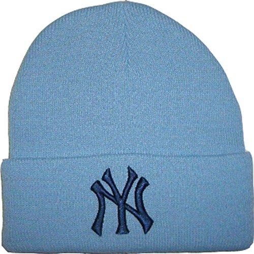 new-era-berretto-beanie-woll-ny-logo-major-league-baseball-hellblauone-taglia-unica-taglia-56-cm