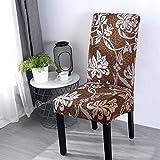 MAIAMY Fodere per sedie da Pranzo Stampa Fiori Coprisedie di Dimensioni universali Coprisedili per sedie Classiche per Matrimoni Domestici Banchetti per Feste in Hotel