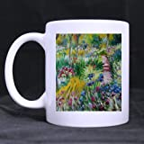 HUgjifdg New Year/Christmas Day Gifts Artworks Claude Monet Field of Flowers 100% Ceramic 11-Ounce White Mug