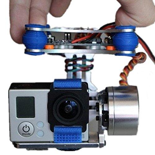 VIDOO FPV 2 Axe Cardan Brushless avec Contrôleur pour Gopro Fantôme DJI 3 pour Les Courses De Rc Drone FPV