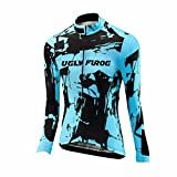 Uglyfrog 2018 Damen Neue Winter Jersey Thermisches Fahrradtrikot Vlies Thermo Langarm Shirt Women Breathable Radfahren Fahrrad lange Hülsen Fahrrad Hemd Frauen Langarm Fahrradbekleidung