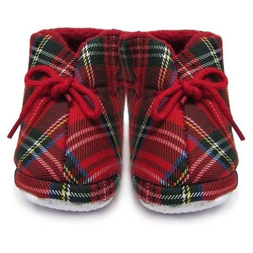 Schuhe mit Royal Stewart Tartanmuster - Baby/Kinder - Rot - 12-18 Monate