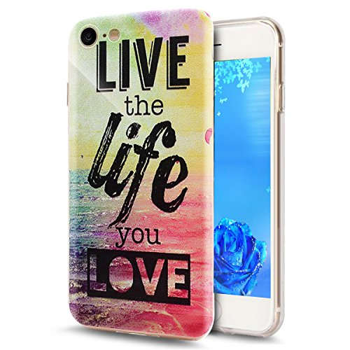 iPhone 7 Silikon Hülle,iPhone 7 Glitzer Hülle,iPhone 7 Transparent Hülle,iPhone 7 Crystal Clear TPU Case Hülle Klare Cristall Silikon Gel Schutzhülle Etui für iPhone 7 4.7 Zoll,EMAXELERS iPhone 7 (4.7 Dandelion Lover 9