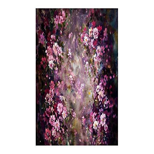 Blume druckte Digitalfotografie-Hintergrund-Stoff-Foto-Studio-Hintergrund - Asiproper