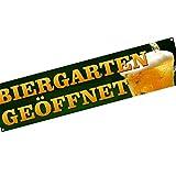 Biergarten geöffnet Spannbanner/Banner/Werbebanner 2 x 0,5 Meter Plakat