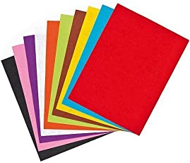 MSGH Pack of 10 Bright A3 Size Multicolored Stiff Felt Sheet