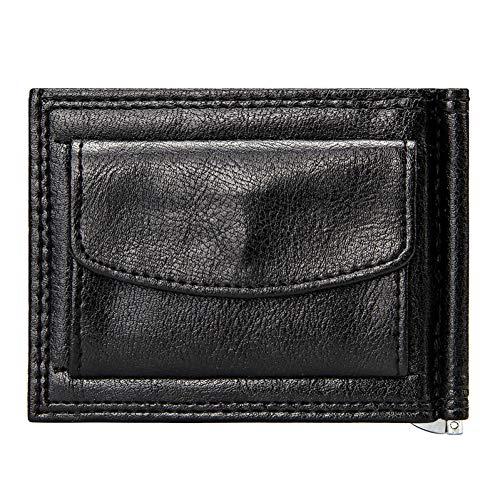 FIRENQB Herrenbrieftasche Vintage Slim GeldscheinklammerBusiness Männer Short Wallet Mit Münzfach Bifold Pu Leder Casual Karten Fall Brieftaschen -