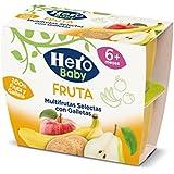 Hero Baby Todofruta Multifrutas Galletas, Tarrina de Plástico - Paquete de 4 x 100 gr - Total: 400 gr - [Pack de 6]